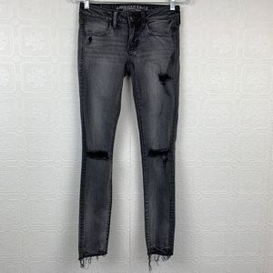 American Eagle Stretch Distressed Jegging 2 A222